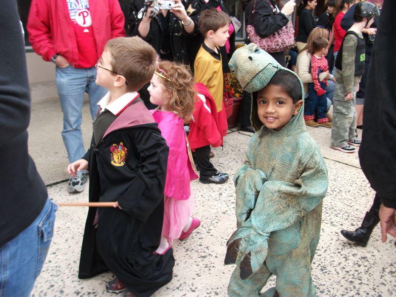 Josh at the Holloween Parade