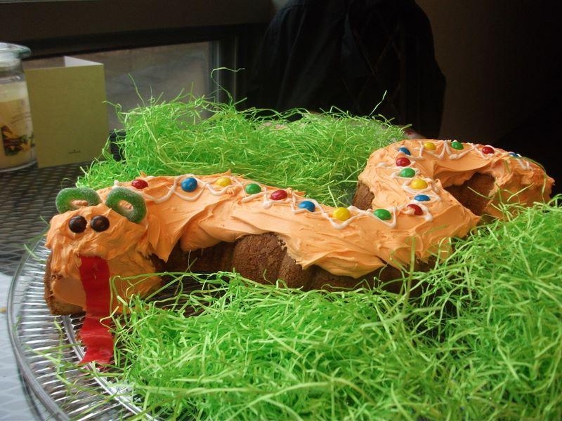 Josh's snake-themed birthday cake