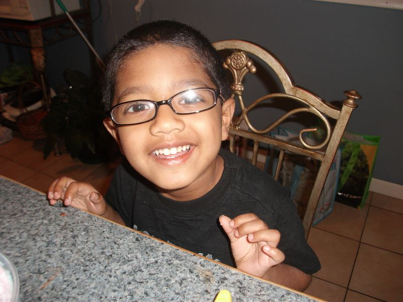 Joshua's new eyeglasses
