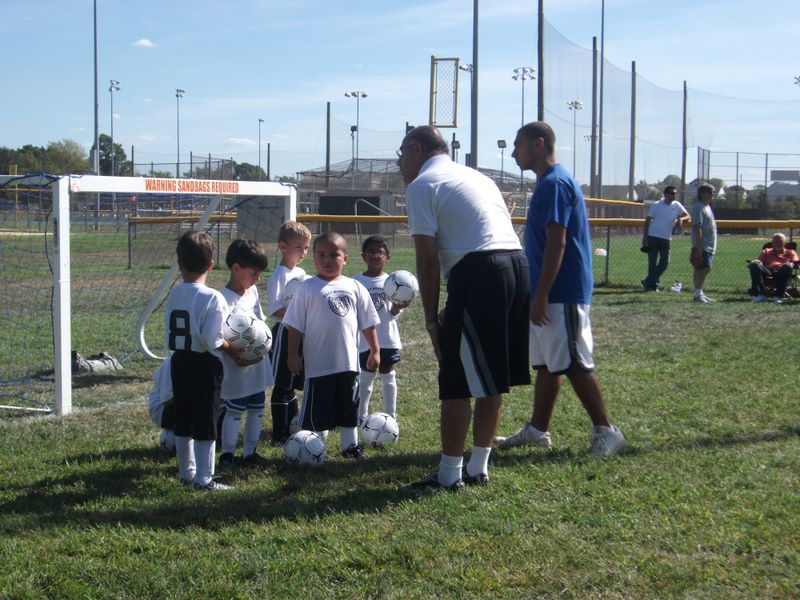 Joshua's first soccer practice