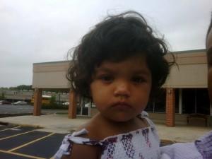 One sick little girl