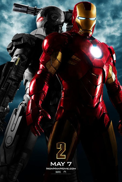 Iron Man 2 (2010) teaser poster with a shot of War Machine