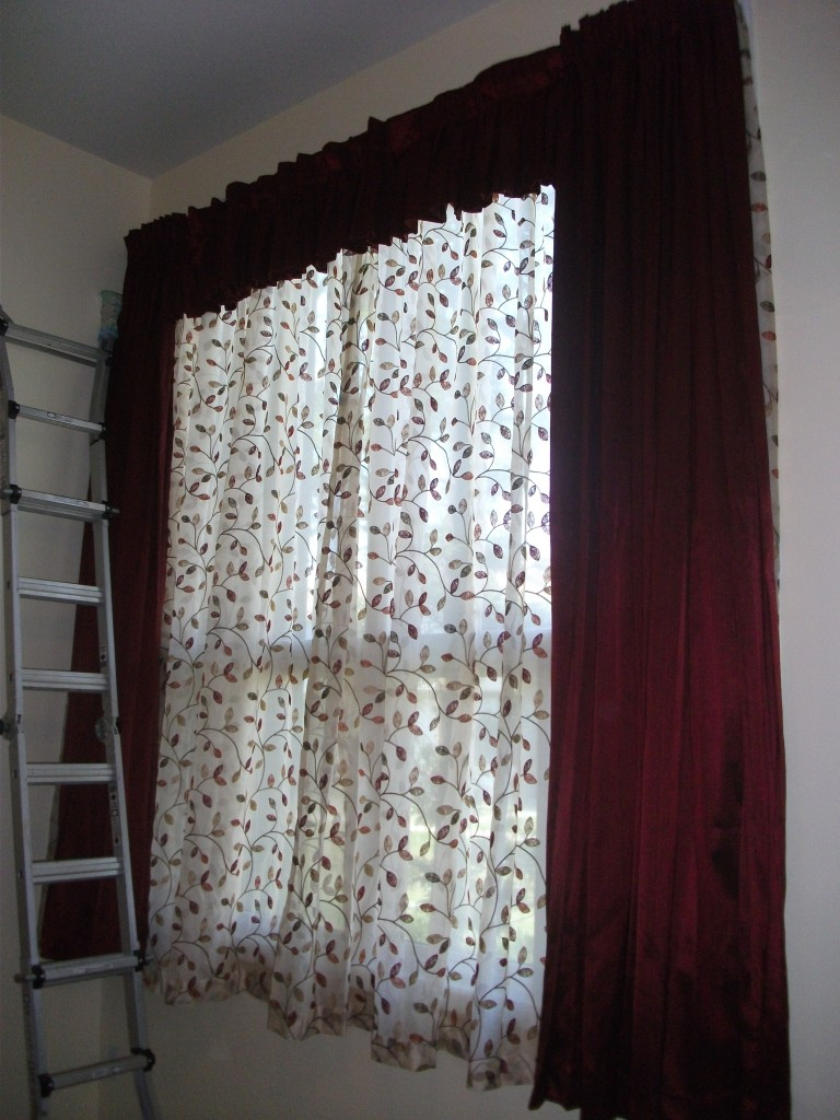 Our window treatments are installed
